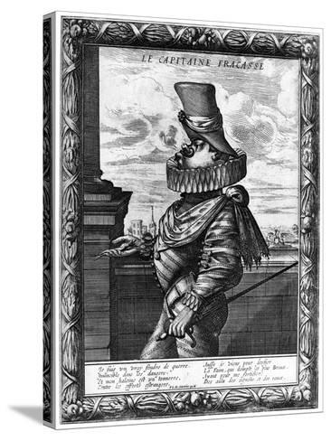 Capitaine Fracasse, C120-1670-Abraham Bosse-Stretched Canvas Print