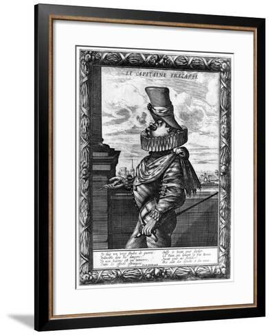 Capitaine Fracasse, C120-1670-Abraham Bosse-Framed Art Print