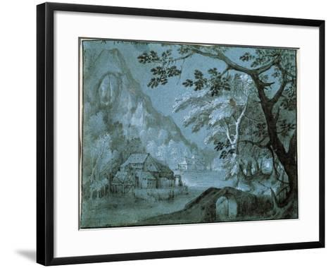 Landscape with a Mill by a Mountain Lake, C1610-C1620S-Adriaen van Stalbemt-Framed Art Print