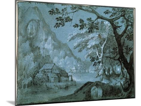 Landscape with a Mill by a Mountain Lake, C1610-C1620S-Adriaen van Stalbemt-Mounted Giclee Print
