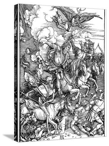 The Four Horsemen of the Apocalypse, 1498-Albrecht Durer-Stretched Canvas Print