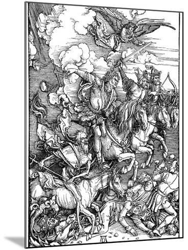 The Four Horsemen of the Apocalypse, 1498-Albrecht Durer-Mounted Giclee Print