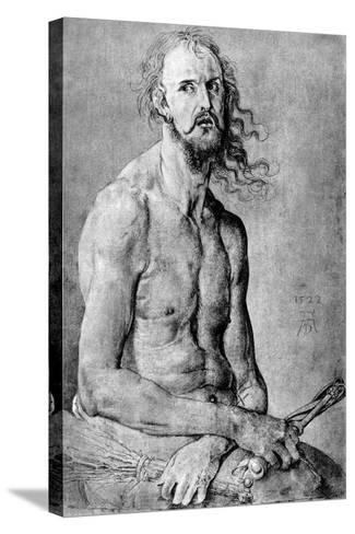 Christ, Man of Sorrow, with Durer?S Features, 1522-Albrecht Durer-Stretched Canvas Print