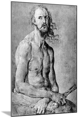 Christ, Man of Sorrow, with Durer?S Features, 1522-Albrecht Durer-Mounted Giclee Print