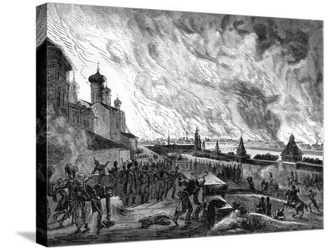 Moscow on Fire, 15th September 1812 (1882-188)-A Etienne-Stretched Canvas Print
