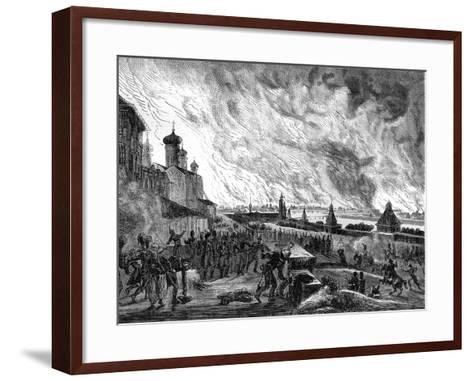 Moscow on Fire, 15th September 1812 (1882-188)-A Etienne-Framed Art Print