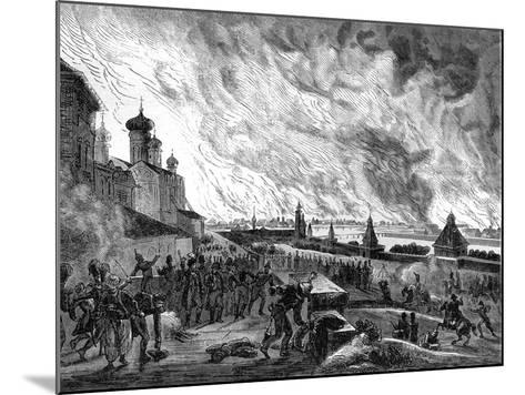 Moscow on Fire, 15th September 1812 (1882-188)-A Etienne-Mounted Giclee Print