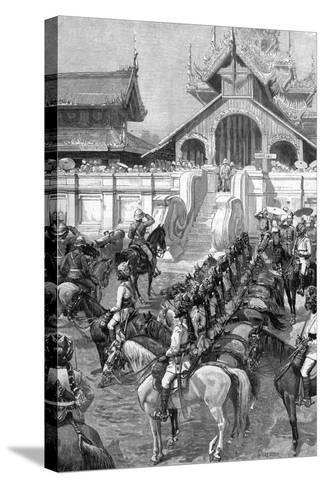 Reception of General Roberts in Mandalay at the East Gate of the Palace, Burma, 1887-A Forestier-Stretched Canvas Print