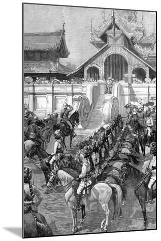 Reception of General Roberts in Mandalay at the East Gate of the Palace, Burma, 1887-A Forestier-Mounted Giclee Print