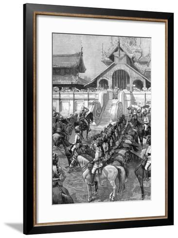 Reception of General Roberts in Mandalay at the East Gate of the Palace, Burma, 1887-A Forestier-Framed Art Print