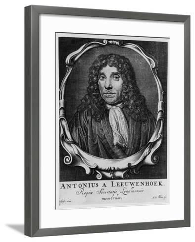 Antoni Van Leeuwenhoek, Dutch Pioneer of Microscopy, C1660-Abraham de Blois-Framed Art Print