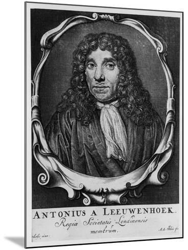 Antoni Van Leeuwenhoek, Dutch Pioneer of Microscopy, C1660-Abraham de Blois-Mounted Giclee Print