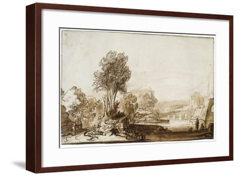 A Doorway to the Castle, 17th Century-Abraham Furnerius-Framed Art Print