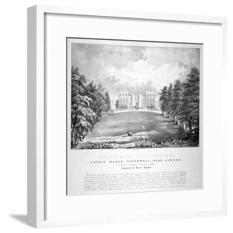 Orthopaedic Institution, Gothic House, Stockwell, Lambeth, London, C1840-A Friedel-Framed Art Print