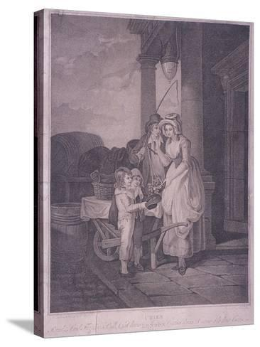 Round and Sound Fivepence a Pound Duke Cherries, Cries of London, 1795-Antoine Cardon-Stretched Canvas Print