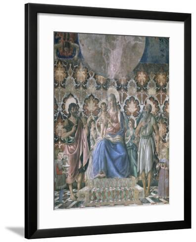 Madonna and Child with Angels, C1443-Andrea Del Castagno-Framed Art Print