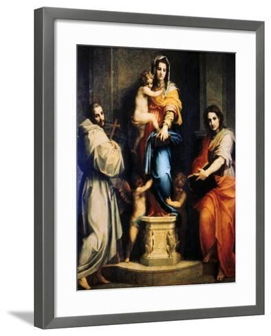 Madonna of the Harpies, 1517-Andrea del Sarto-Framed Art Print