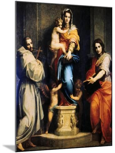 Madonna of the Harpies, 1517-Andrea del Sarto-Mounted Giclee Print
