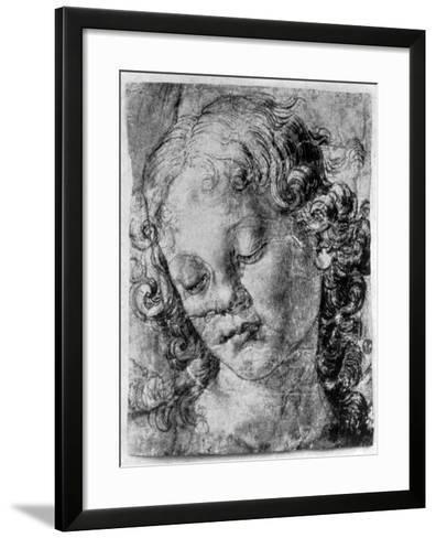 The Head of an Angel, 15th Century-Andrea del Verrocchio-Framed Art Print