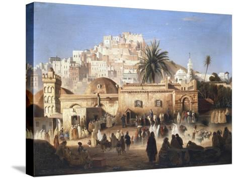 Mosque of El Mecolla, Algiers, C1821-1849-Antoine Victor Joinville-Stretched Canvas Print