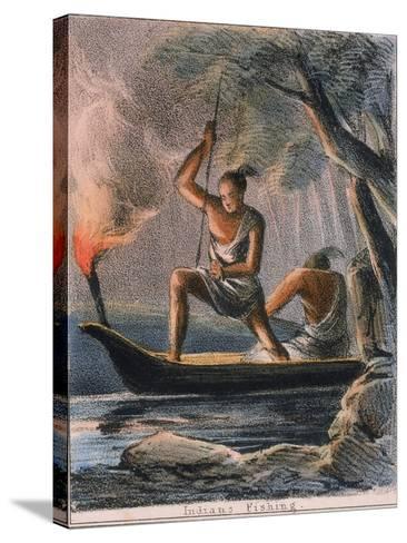Indians Fishing, C1845-Benjamin Waterhouse Hawkins-Stretched Canvas Print