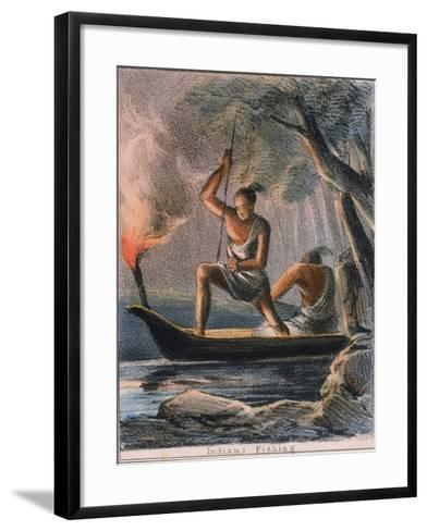 Indians Fishing, C1845-Benjamin Waterhouse Hawkins-Framed Art Print