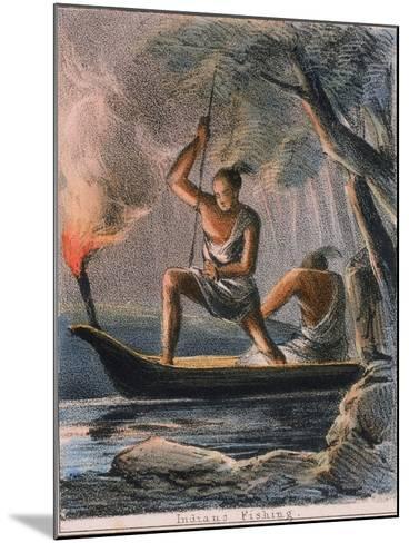 Indians Fishing, C1845-Benjamin Waterhouse Hawkins-Mounted Giclee Print