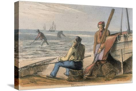 Shrimpers, C1845-Benjamin Waterhouse Hawkins-Stretched Canvas Print