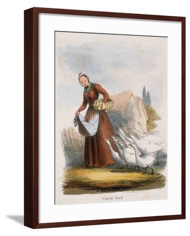 Farm Yard, C1845-Benjamin Waterhouse Hawkins-Framed Art Print
