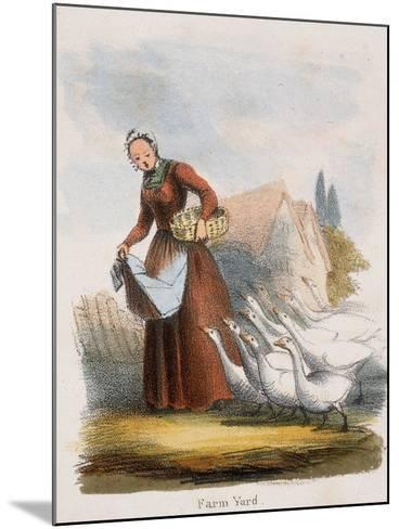 Farm Yard, C1845-Benjamin Waterhouse Hawkins-Mounted Giclee Print