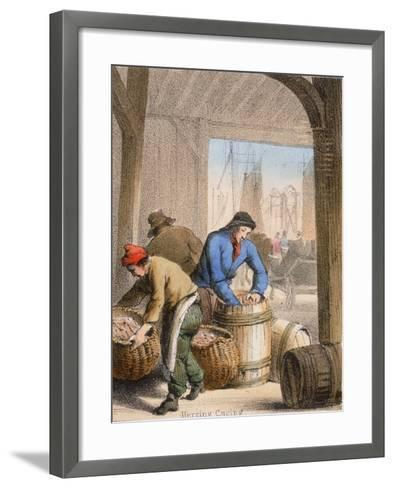 Herring Curing, C1845-Benjamin Waterhouse Hawkins-Framed Art Print
