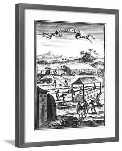 Sugar Factory and Plantation in the West Indies, 1686-Allain Manesson Mallet-Framed Art Print