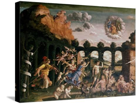 Minerva Chasing the Vices from the Garden of Virtue, C1502-Andrea Mantegna-Stretched Canvas Print