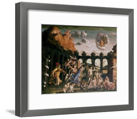 Minerva Chasing the Vices from the Garden of Virtue, C1502-Andrea Mantegna-Framed Art Print