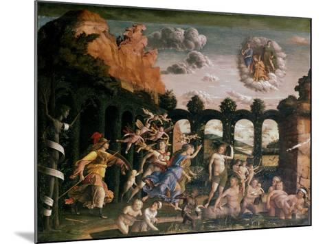 Minerva Chasing the Vices from the Garden of Virtue, C1502-Andrea Mantegna-Mounted Giclee Print