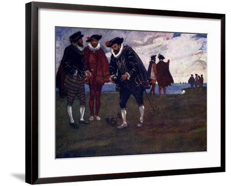 There Is Time to Finish the Game and Beat the Spaniards Too, Said Drake, 1588-AS Forrest-Framed Art Print