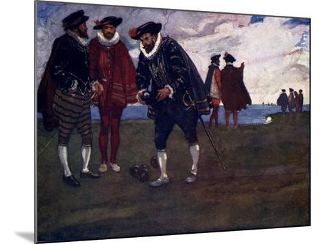 There Is Time to Finish the Game and Beat the Spaniards Too, Said Drake, 1588-AS Forrest-Mounted Giclee Print