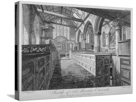 Interior of the Church of St Martin Outwich, City of London, 1796-Barrett-Stretched Canvas Print