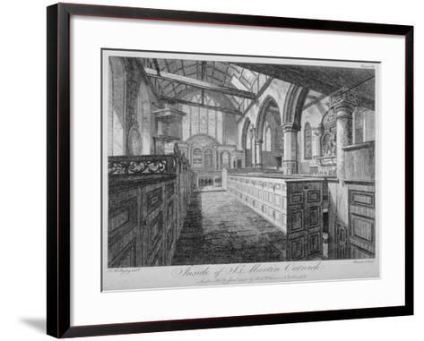 Interior of the Church of St Martin Outwich, City of London, 1796-Barrett-Framed Art Print