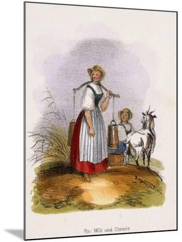 For Milk and Cheese, C1845-Benjamin Waterhouse Hawkins-Mounted Giclee Print