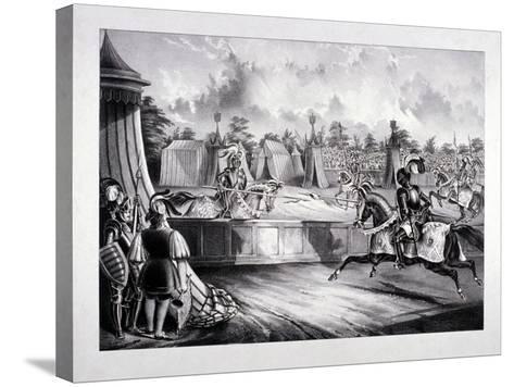 Eglinton Tournament, the Tilt-Yard of the 19th Century, Near the Regent's Park, London, 1839-Benjamin Waterhouse Hawkins-Stretched Canvas Print