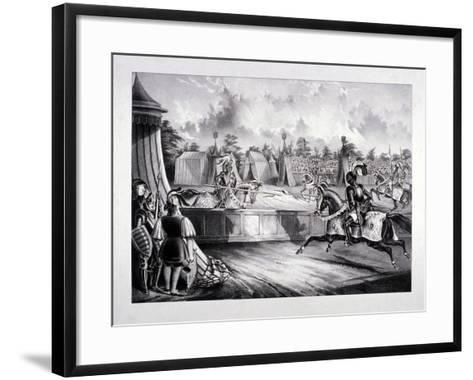 Eglinton Tournament, the Tilt-Yard of the 19th Century, Near the Regent's Park, London, 1839-Benjamin Waterhouse Hawkins-Framed Art Print
