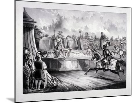 Eglinton Tournament, the Tilt-Yard of the 19th Century, Near the Regent's Park, London, 1839-Benjamin Waterhouse Hawkins-Mounted Giclee Print