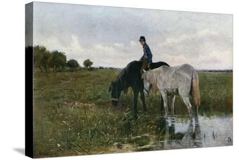 Watering Horses, 1871-Anton Mauve-Stretched Canvas Print