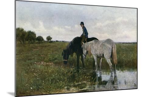 Watering Horses, 1871-Anton Mauve-Mounted Giclee Print