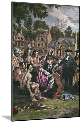 William Penn, English Quaker Colonist, Treating with Native North Americans, 1682 (1771-177)-Benjamin West-Mounted Giclee Print
