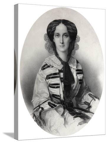 Tsarina Maria Alexandrovna of Russia, 1860-Andrei Deniere-Stretched Canvas Print