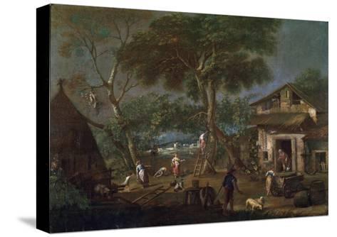 Italian Landscape, C1750-1795-Antonio Diziani-Stretched Canvas Print