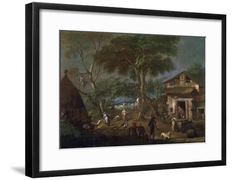 Italian Landscape, C1750-1795-Antonio Diziani-Framed Art Print