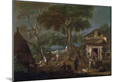Italian Landscape, C1750-1795-Antonio Diziani-Mounted Giclee Print